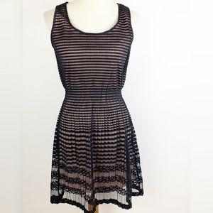 Maison Jules Striped Sleeveless Skater Dress 3471